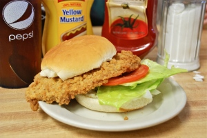 Pork Tenderloin Sandwich Flamingo Motel/Cafe Dunreith, IN