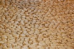 Woven corn husks