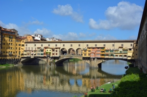 The Ponte Vecchio  over the River Arno